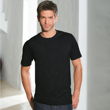 Short sleeves, Crew-Neck Shirt, Black