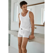 Briefs and Vest, White