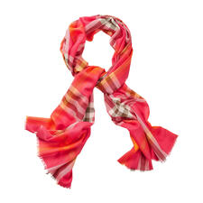 Lochcarron Tartan Trendy Scarf - Traditional Stewart tartan – re-launched in fashionable colours for the checks trend.