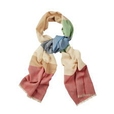 Lochcarron Six-Colour Scarf - Six-colour scarf made of wool, silk and linen. By Lochcarron of Scotland.