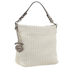 Emily & Noah Plaited Tote Bag - White tote bag in plaited look: On-trend and at a pleasantly affordable price.