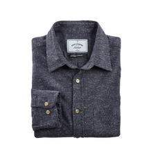 Donegal Shirt - Cotton/silk shirt in fashionable Donegal tweed look. By Portuguese Flannel.