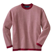 Baby Alpaca Striped Pullover - Striped pullover made of 100% alpaca wool for year-round wear. By Carbery/Ireland.