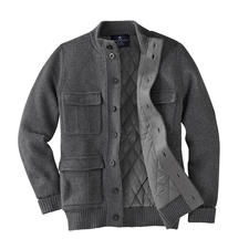 Alan Paine Knitted Outdoor Cardigan - Warm and wind & water repellent: The knitted outdoor cardigan. By Alan Paine, England.