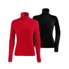Polo Neck, Red and Black