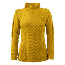 Peregrine Pattern Mix Pullover - Rarely does a pullover combine so many exciting structures. Made in England. By Peregrine.