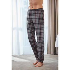 Hanro Gentleman Pyjama Trousers - Stylish check. High-quality, thick cotton flannel. For stylish lounging and pleasant sleeping: Pyjama trousers.