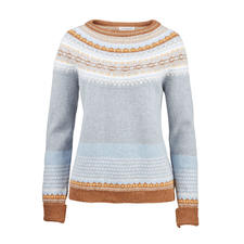 6-Colour Fair-Isle Jumper - Artful and rare Fair Isle jacquard in 6 trend colours. By Eribé, Scotland.