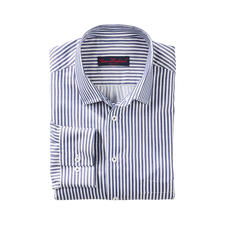 Silky Block Stripe Shirt - Sophisticated fashionable block stripe shirts. A pleasure against the skin: Batiste fabric with 33% silk.