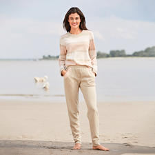 HFor Striped Sweatshirt and Sweat Trousers - A wonderfully comfortable, trendy smart look and pleasantly affordable. The loungewear suit from HFor.
