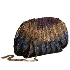 Smitten Sequin Clutch - Magnificent sequin embroidery, traditionally made by hand. Each bag is unique.