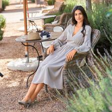SLY010 Empire Silk Dress