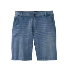 Karl Lagerfeld Denim Bermuda Shorts - 7 oz. lightweight denim turns these Bermuda shorts into an airy summer must-have. By Karl Lagerfeld.