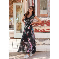 Fuzzi Easy To Pack Maxi Holiday Dress - A designer dress for your handbag. And for almost any occasion. Made of delicate tulle jersey. By Fuzzi.