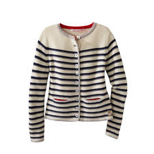 My Herzallerliebst Striped Jacket - My Herzallerliebst turns the country style jacket into a nautical fashion highlight.