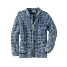 Indigo Cardigan - Hard to find: A cardigan that really does perfectly match your favourite jeans. By Piece of Blue/Denmark.
