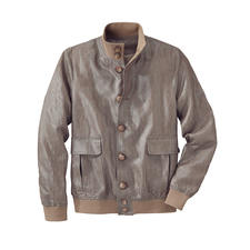 Linen Lumber Jacket - Rare: The classic lumber jacket made of waxed linen. Light, airy and rainproof.