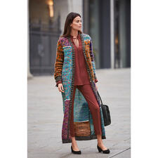 M Missoni Mohair Maxi Coat - Fashion piece of art par excellence: Mohair knitted maxi-coat from couture knitwear label M Missoni.