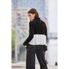 "TWINSET Pleated turtleneck - Chunky knitwear meets delicate pleating. A layered look from the ""inventor"" of the style break: TWINSET."