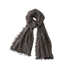 Hohenberger bouclé men's scarf - Soft and warming like other fashionable bouclé scarves. But much lighter.