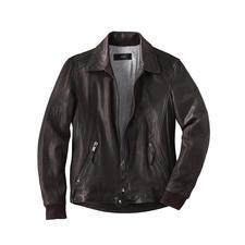 Lambskin Nappa Leather Biker Jacket - Hard-wearing lambskin nappa leather. Gently pre-washed. Classic design. Pleasant price. By Arma.