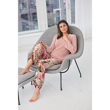 TWINSET Loungewear Pullover or Trousers - Cable knit. Chenille. Statement sleeves. Floral print. Fashionable cut. By TWINSET.