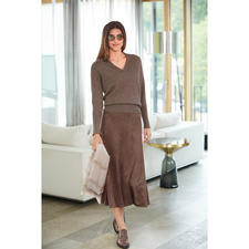 Seductive Alcantara® skirt