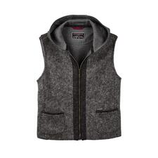 Steinbock Felted Wool Hooded Waistcoat - Warm felted wool: Traditionally weatherproof like high-tech fabric, but much more stylish.