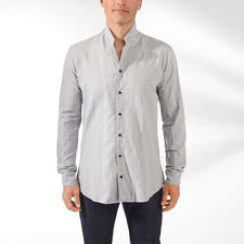 Hannes Roether Shirt with Stand-up Collar