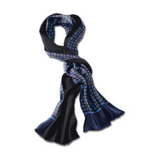 Double-face Retro Scarf - Classic design, but in contemporary colourways. The reversible double-face scarf is ideal in every weather.