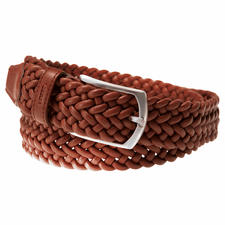 Elasticated Woven Leather Belt - Great with leisure and business outfits. Handwoven in Spain. By Possum®.