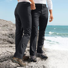 Softshell Trousers, Women and Men - Thanks to softshell these trousers are slim, light and still warm. 