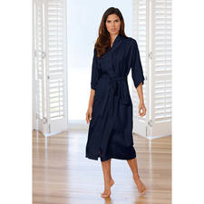 Silk Travel Dressing Gown - Packed in a space-saving silk bag – ideal for travelling.
