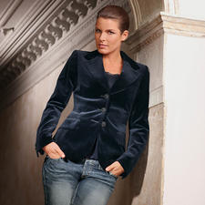 Washable Velvet Blazer - The velvet blazer for every day. You can even pop it in the washer.