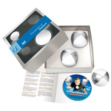 Your juggling set comes in a gift box – including a DVD and a 10-page leaflet.
