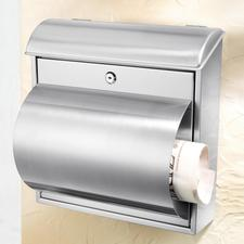 Stainless Steel Letter Box - Solid, long-lasting quality. With a practical newspaper slot.