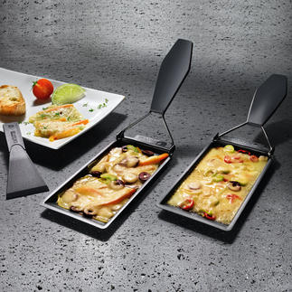 Barbeclettes, 2-piece set or 6-piece set Make delicious raclette specialties on all grills.