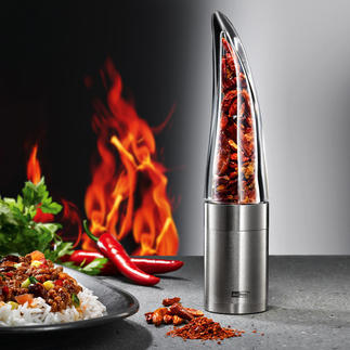 "Chilli Mill ""Pepe"" Grind chillies easily, faster and more securely."