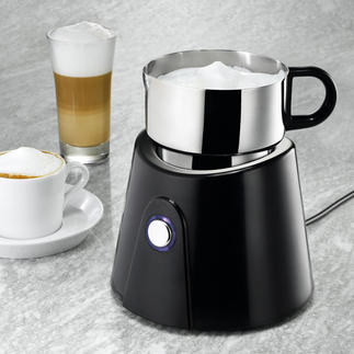 Induction Milk Frother Perfectly frothed hot or cold milk in seconds. Dishwasher-safe.