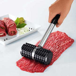 """Shark""ˮMeat Roller Can also be used as a traditional meat tenderiser with 2 profiles."