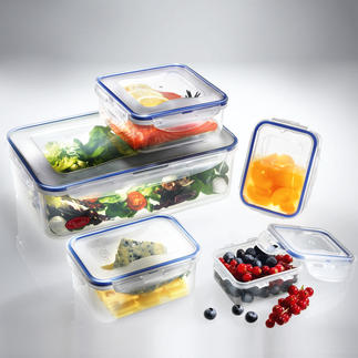 """Lock & Lock"" Storage Containers or Boroseal, Set of 5 100% airtight, waterproof and locks in aromas. Ideal for safe storage and to transport food."