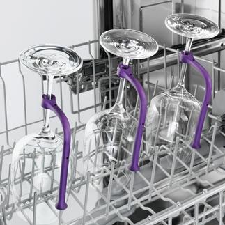 Dishwasher Glass Holder, Set of 8 Clean long-stemmed glasses safely in the dishwasher without risk.