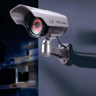"Dummy Camera with IR-LEDs Keep your home under ""camera"" surveillance. Now even more effective."