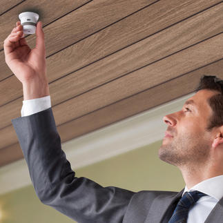 Smoke or Heat Detector Invisible '10 years' Runs 10 years on one battery. Miniature life-saving technology.