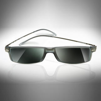 Eschenbach Reading-Sunglasses Sunglasses? Reading glasses? Both! In 3 strengths. With 88% grey shading. By Eschenbach, Germany.