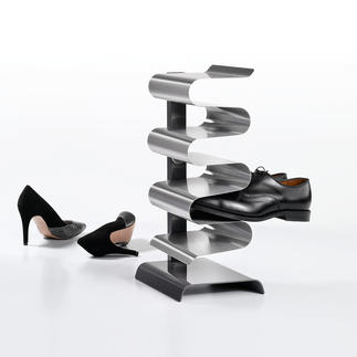 """Nest"" Shoe Rack Curved shelves keep your shoes firmly in place, well-aired and carefully separated."