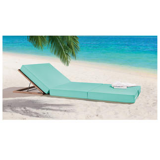 "Jan Kurtz Mat ""M80"" or Wooden Robinia Backrest Relax in style - like on the ""Matelas"" at the beach clubs of Pampelonne."