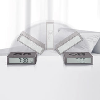 Flip Clock Simply flip over instead of switching it on and off. The ideal travel alarm clock.