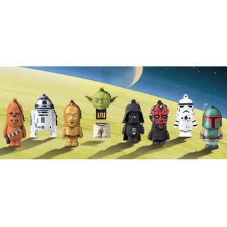 Star Wars USB Stick, 8GB USB stick with cult appeal. Officially licensed characters from the Star Wars films.