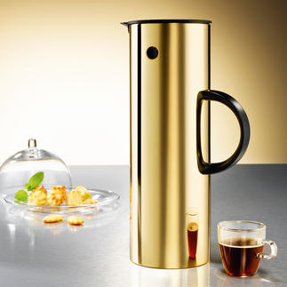 Stelton Flask, gold coloured The well known thermal flask – now with golden finish.